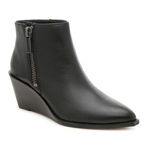 1. State | Leather Wedge Ankle Bootie Kipp